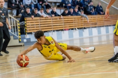 13.10.2019, Oldenburg, Sporthalle Haarenufer: JBBL | EWE Baskets Juniors - Phoenix Hagen Youngsters  //  Tyrell NWAKI (#7 EWE Baskets Juniors/JBBL)  || Foto: Erik Hillmer
