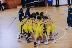 18.10.2020, Oldenburg, Sporthalle Haarenufer: Team der EWE Baskets Juniors nach dem JBBL-Spiel EWE Baskets Juniors - Bramfelder SV. Foto: Erik Hillmer